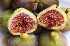 Figs. Close up of figs on white Stock Image