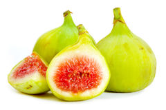 Figs. Green Figs isolated on white background Stock Photography