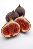 Figs. On a white studio background Royalty Free Stock Photos
