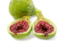 Figs. Some figs isolated on a white background Stock Photography