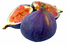 Figs. Split and whole figs isolated on white Royalty Free Stock Photo