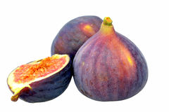 Figs. Split and whole figs isolated on white Stock Photo
