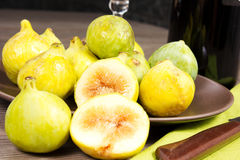 Figs. On the wood table Royalty Free Stock Photos