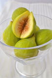 Figs. In a bowl of glas stock photos