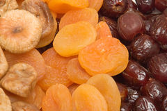 Figs, apricots and dates Royalty Free Stock Photo
