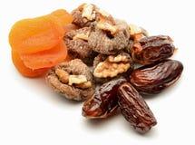 Figs, apricots, dates and walnuts Stock Photo