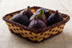 Figs in a basket Royalty Free Stock Photo