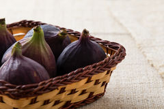 Figs in a basket Royalty Free Stock Image