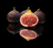 Figs on black Stock Photography