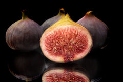 Figs on black Royalty Free Stock Image