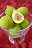 Figs in a bowl. With red background stock photo