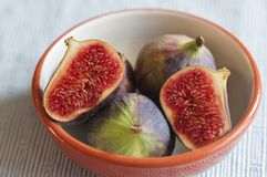 Figs in a bowl Royalty Free Stock Photo