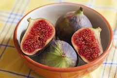 Figs in a bowl Stock Images