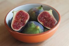 Figs in a bowl Stock Photos