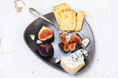 Figs and cheese Royalty Free Stock Image