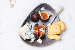 Figs and cheese Stock Photo