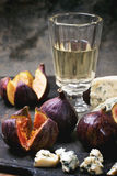 Figs and cheese Royalty Free Stock Images