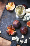 Figs and cheese Stock Photos