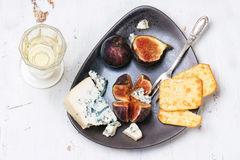 Figs and cheese Royalty Free Stock Photography