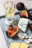Figs and cheese Royalty Free Stock Photos
