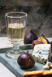 Figs and cheese Stock Image