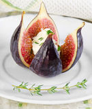 Figs with cheese Stock Image