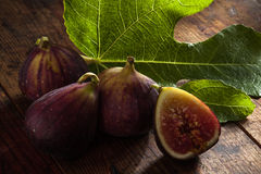 Figs on color Stock Image
