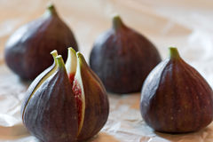 Figs composition. Fresh tropical fruit. Fig composition Royalty Free Stock Image