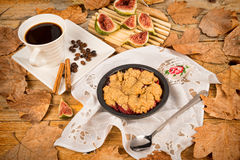 Figs crumble pie Royalty Free Stock Images