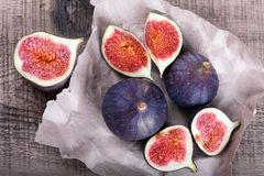 Figs on crumpled paper Stock Photography