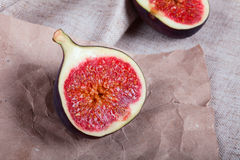 Figs on crumpled paper Stock Photos