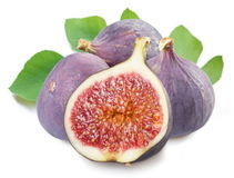 Figs with cut fruit Royalty Free Stock Image