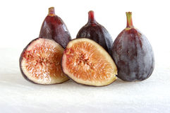 Figs on cutting board Stock Image