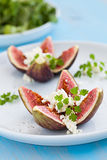 Figs with feta cheese Stock Photos