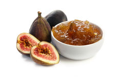 Figs and Fig Jam Stock Photography