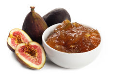Figs and Fig Jam Royalty Free Stock Images