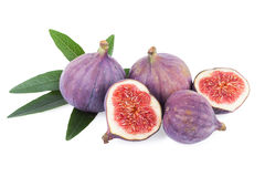 Figs Fruit with Leaf Stock Photo