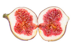 Figs Fruit Two Halves Stock Image