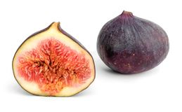 Figs fruits isolated on white background.  Royalty Free Stock Images