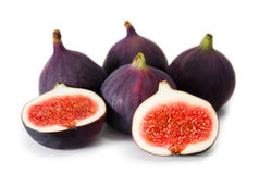 Figs. Fruits on white background Royalty Free Stock Image