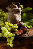 Figs and grape Stock Photos
