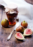 Figs, grapes and cheese Stock Photo