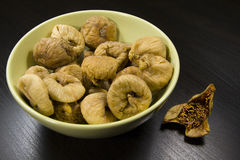 Figs in green bowl Stock Images