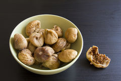 Figs in green bowl Stock Image