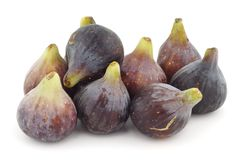 Figs group. Group several figs on a white background Royalty Free Stock Image