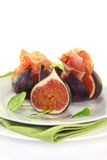 Figs with ham Stock Photos