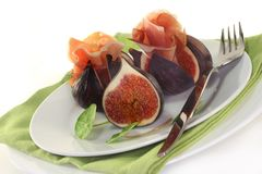 Figs with ham Royalty Free Stock Photo