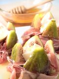 Figs, Ham, Cheese and honey Royalty Free Stock Photos