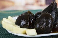 Figs with honey ecuadorian dessert Royalty Free Stock Photo