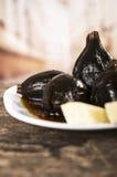 Figs with honey ecuadorian dessert Stock Images